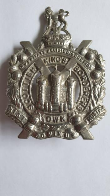 WW1 / WW2 King's Own Scottish Borderers Cap Badge.