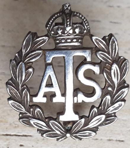 ATS numbered Silver lapel badge