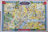 Rare! The New Pictorial map of London - 1934