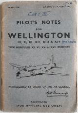 Original Pilot's notes for Wellington - 1944