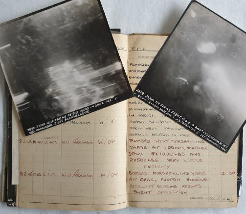 Flight logbook and aerial photographs of partisan supply